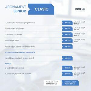 Clinica Excedent Abonament senior clasic conditii