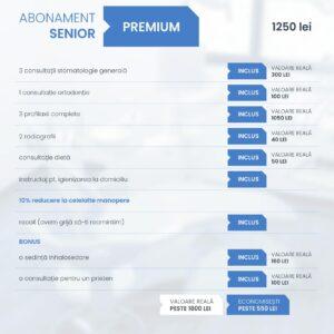 Clinica Excedent Abonament senior premium conditii